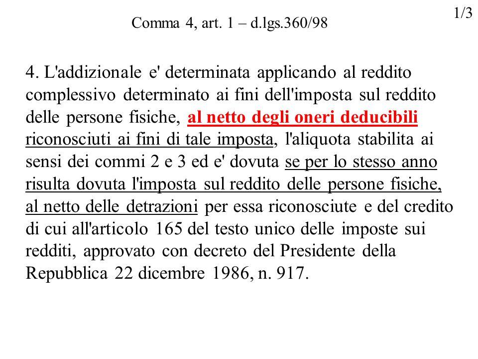 1/3Comma 4, art. 1 – d.lgs.360/98.