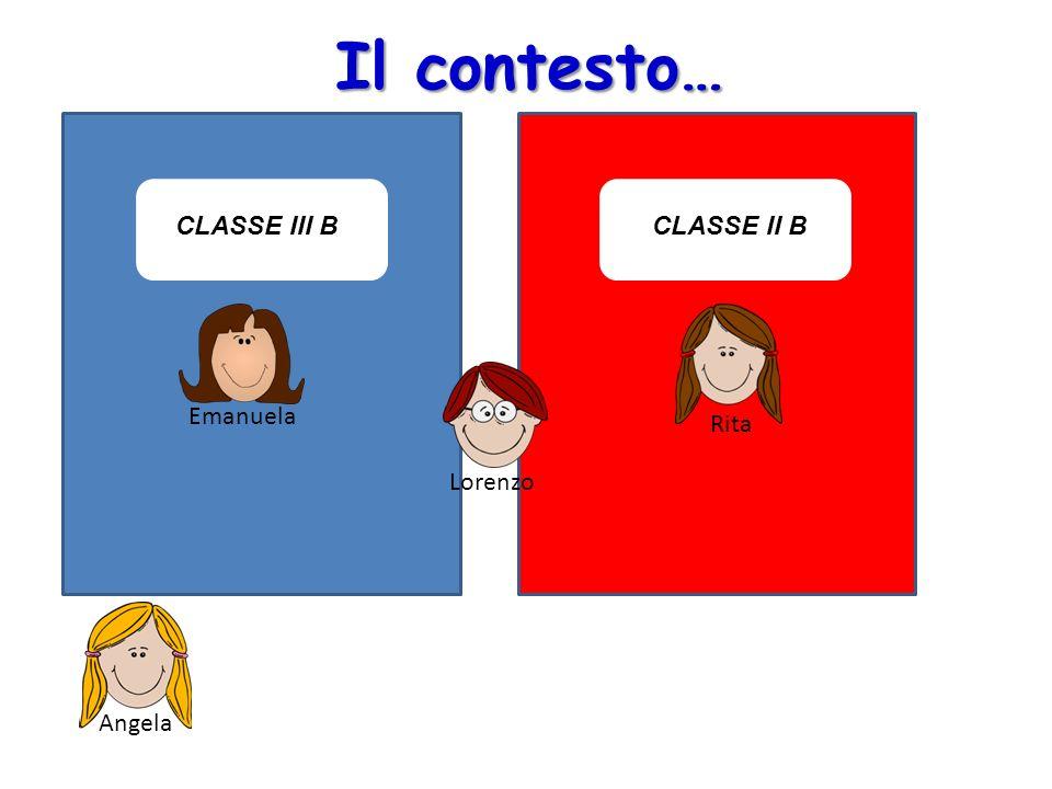 Il contesto… CLASSE III B CLASSE II B Emanuela Rita Lorenzo Lorenzo