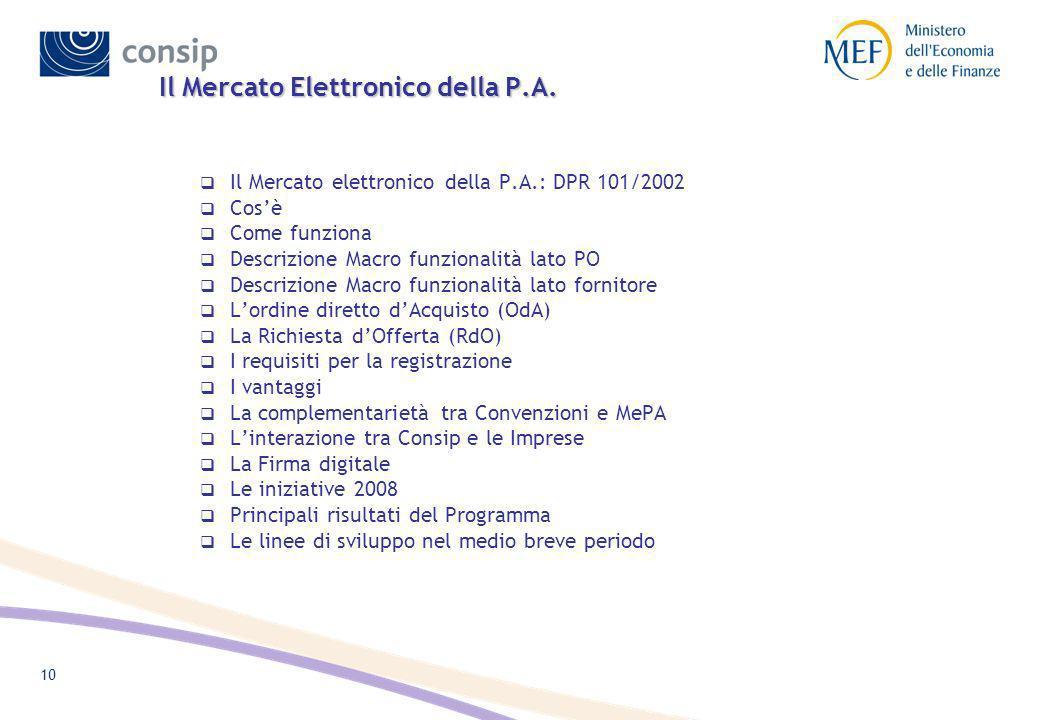 Il Mercato Elettronico della P.A.
