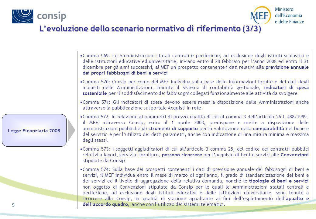 L'evoluzione dello scenario normativo di riferimento (3/3)