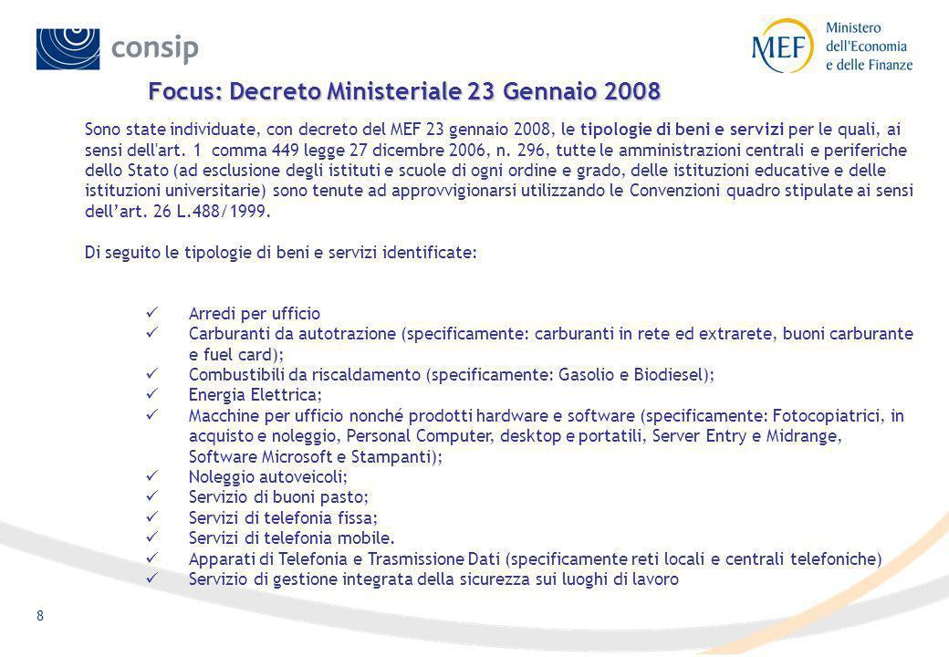 Focus: Decreto Ministeriale 23 Gennaio 2008