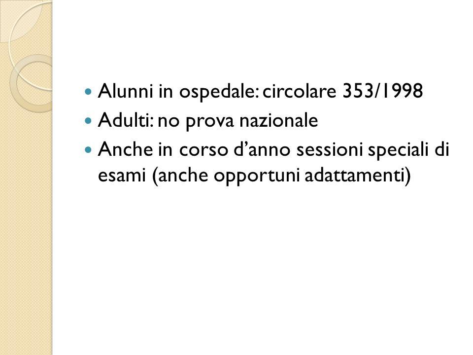 Alunni in ospedale: circolare 353/1998