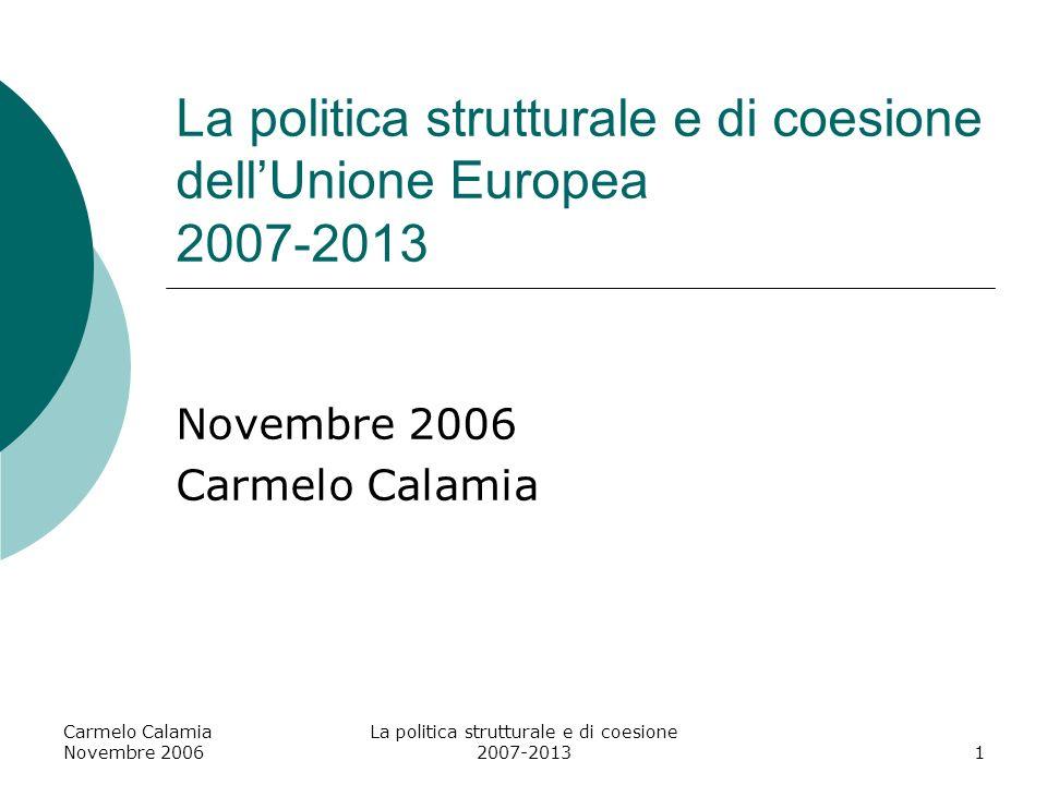 La politica strutturale e di coesione dell'Unione Europea 2007-2013