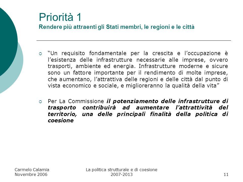 La politica strutturale e di coesione 2007-2013