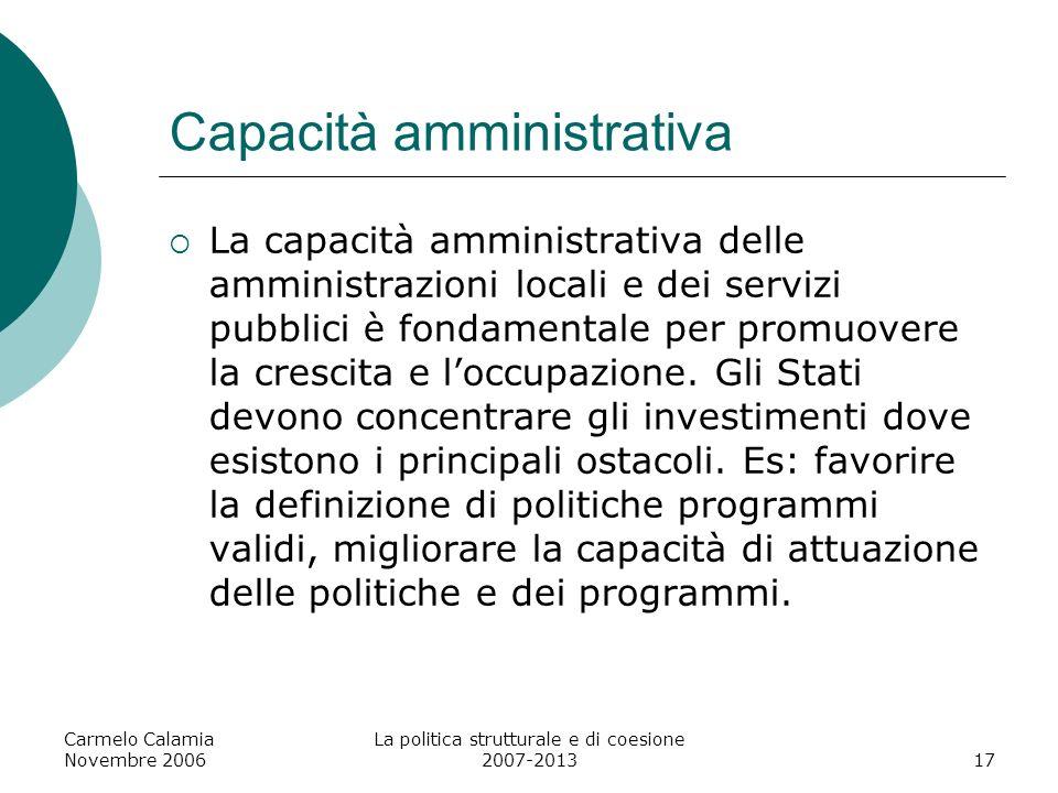 Capacità amministrativa