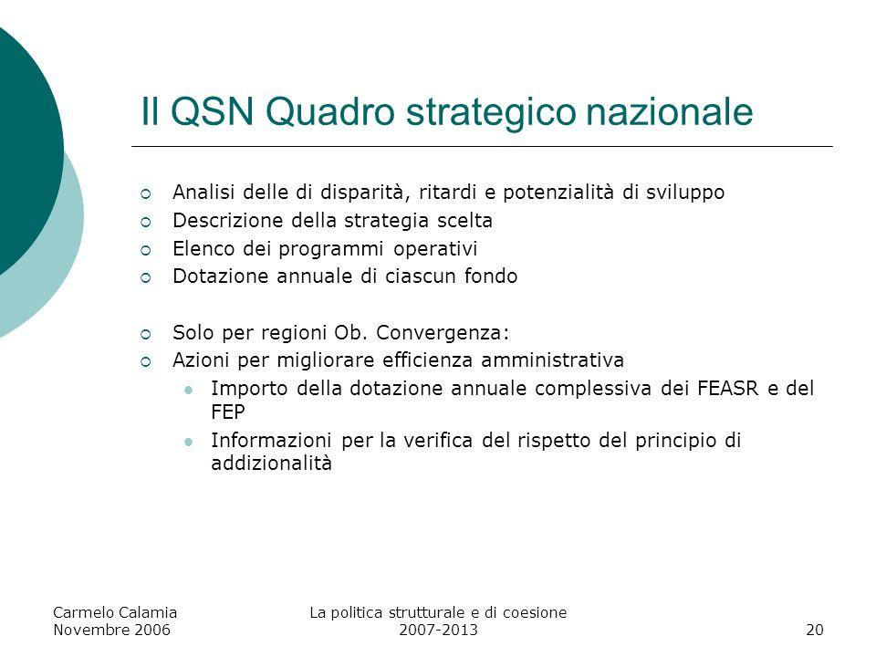 Il QSN Quadro strategico nazionale