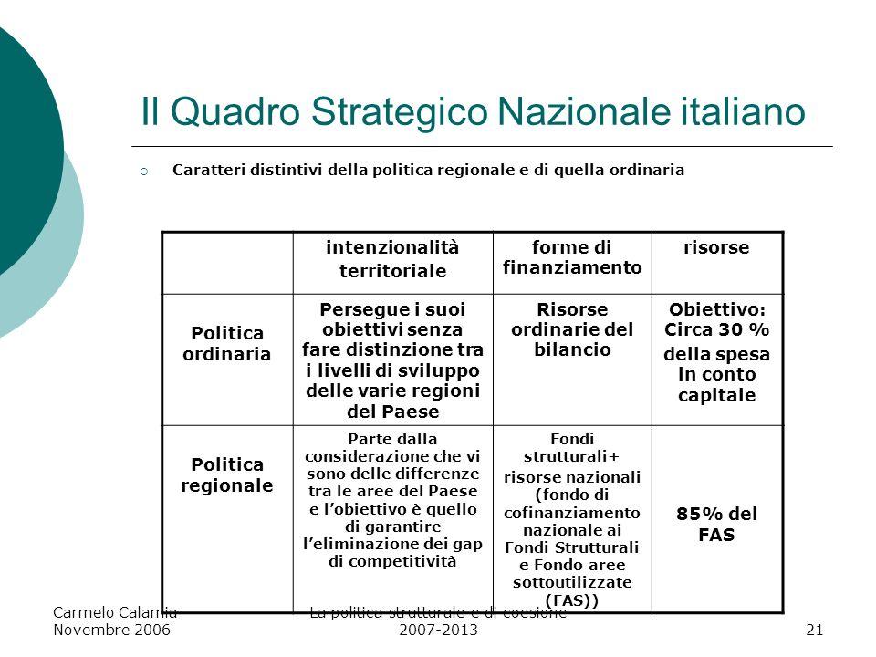 Il Quadro Strategico Nazionale italiano