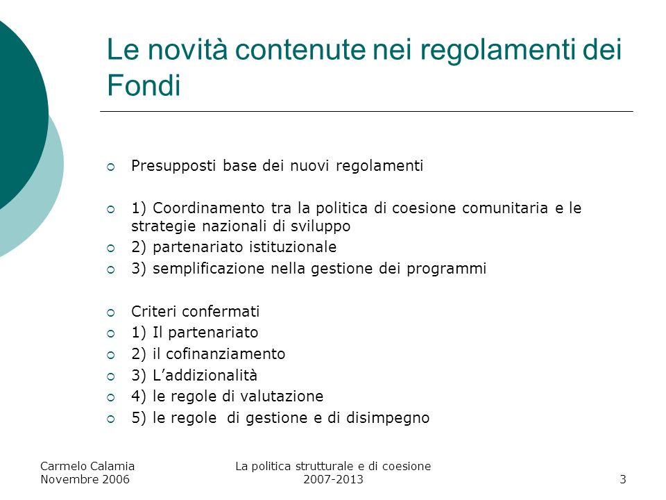 Le novità contenute nei regolamenti dei Fondi