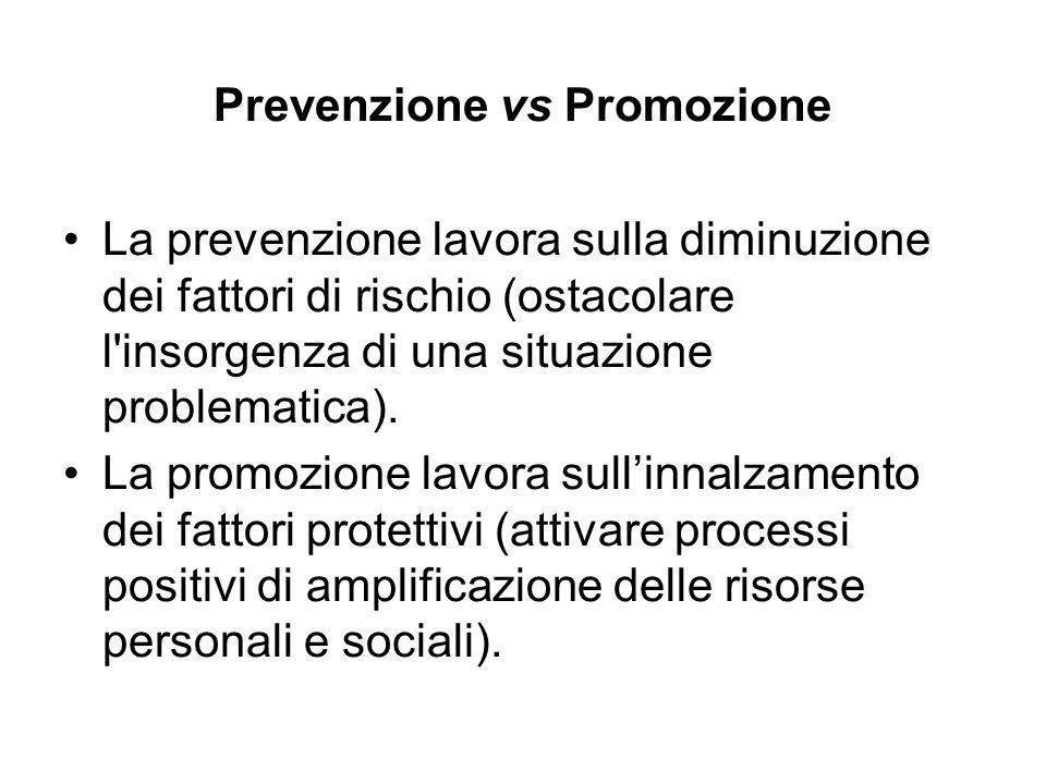 Prevenzione vs Promozione