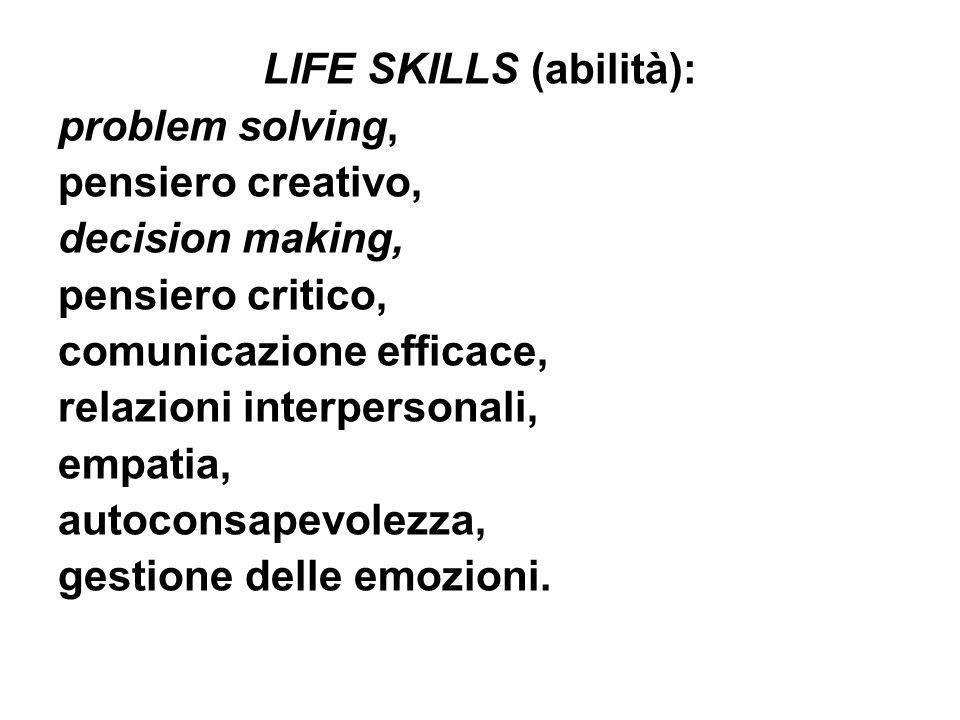 LIFE SKILLS (abilità):