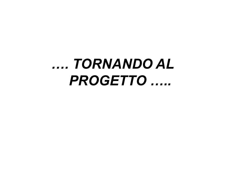 …. TORNANDO AL PROGETTO …..
