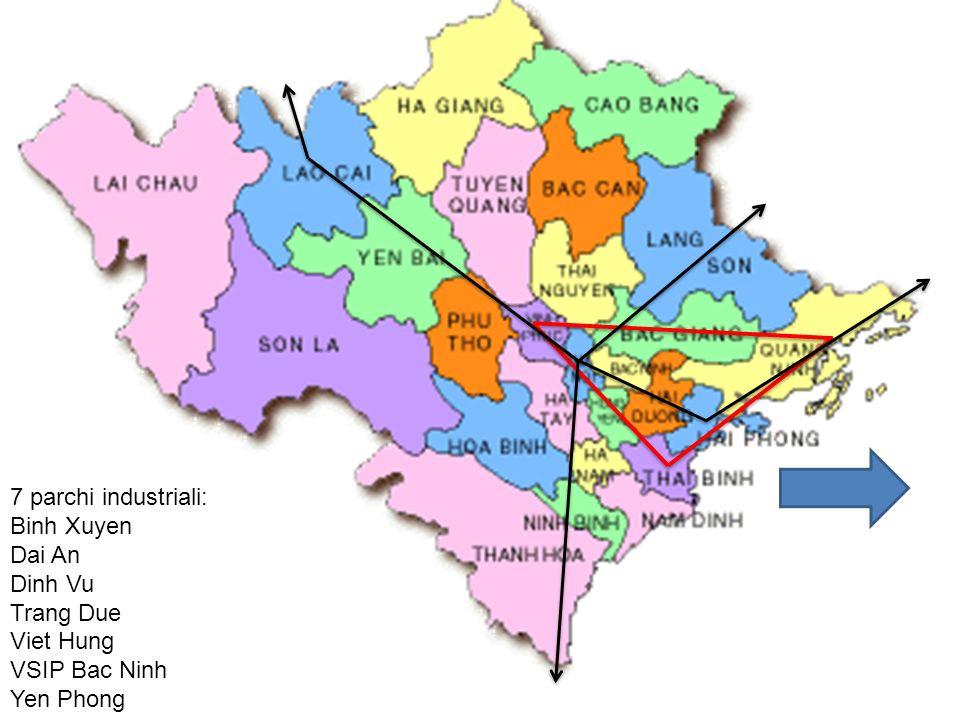 7 parchi industriali: Binh Xuyen Dai An Dinh Vu Trang Due Viet Hung VSIP Bac Ninh Yen Phong