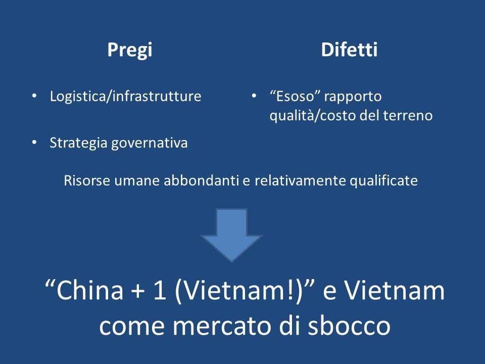 China + 1 (Vietnam!) e Vietnam come mercato di sbocco