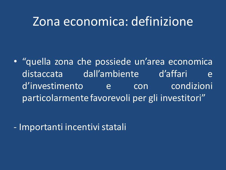 Zona economica: definizione