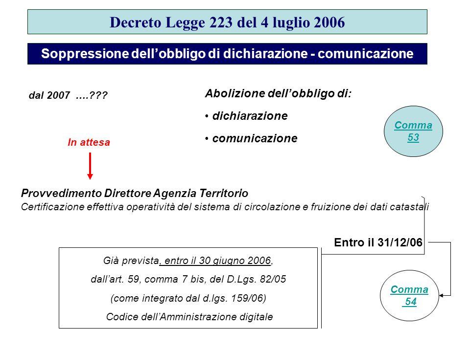 Decreto Legge 223 del 4 luglio 2006