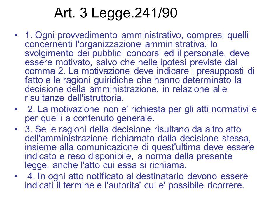 Art. 3 Legge.241/90