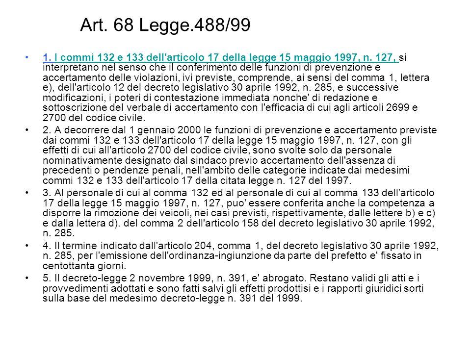 Art. 68 Legge.488/99