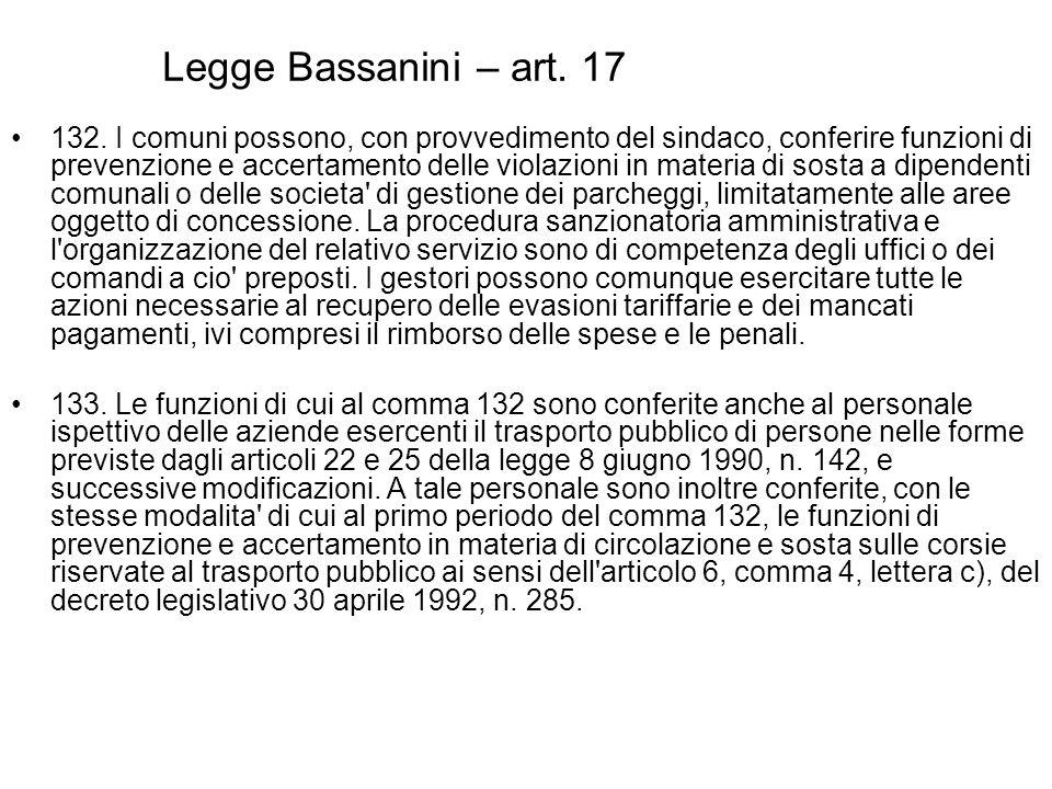 Legge Bassanini – art. 17
