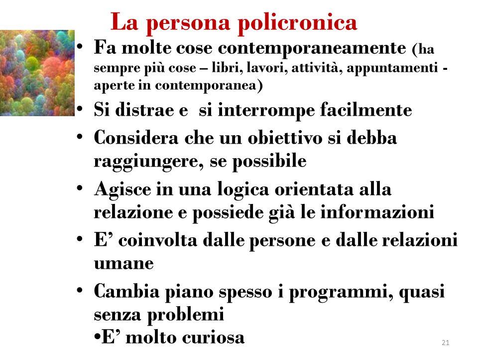 La persona policronica