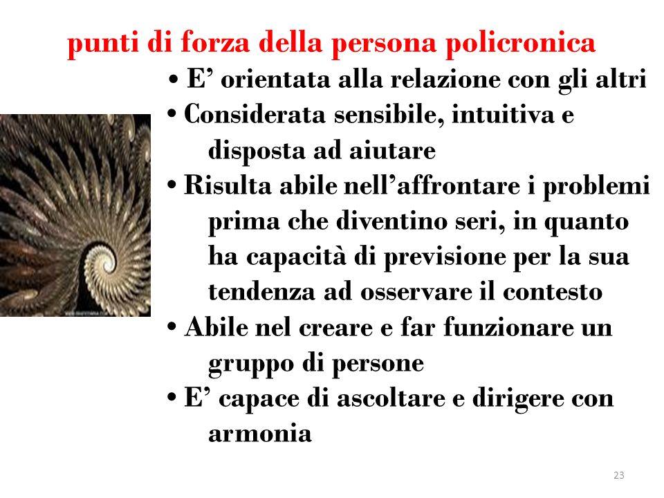 punti di forza della persona policronica