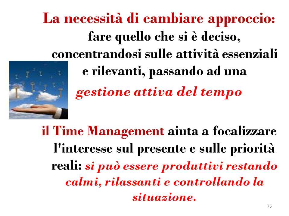gestione attiva del tempo