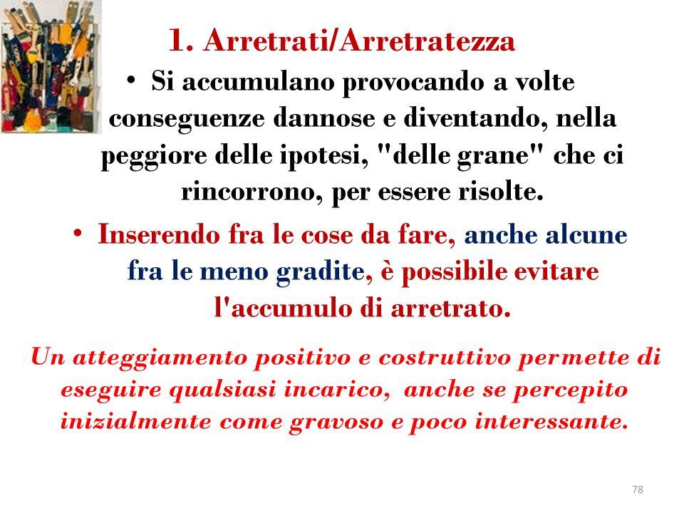 1. Arretrati/Arretratezza