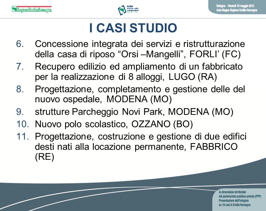 I CASI STUDIO Concessione integrata dei servizi e ristrutturazione della casa di riposo Orsi –Mangelli , FORLI' (FC)