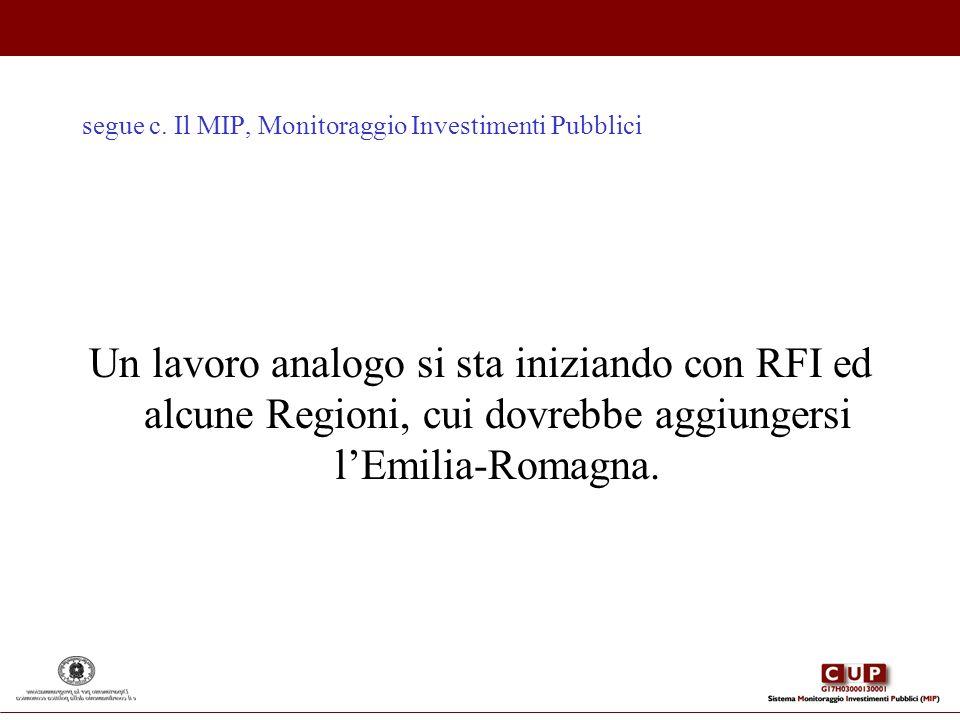 segue c. Il MIP, Monitoraggio Investimenti Pubblici