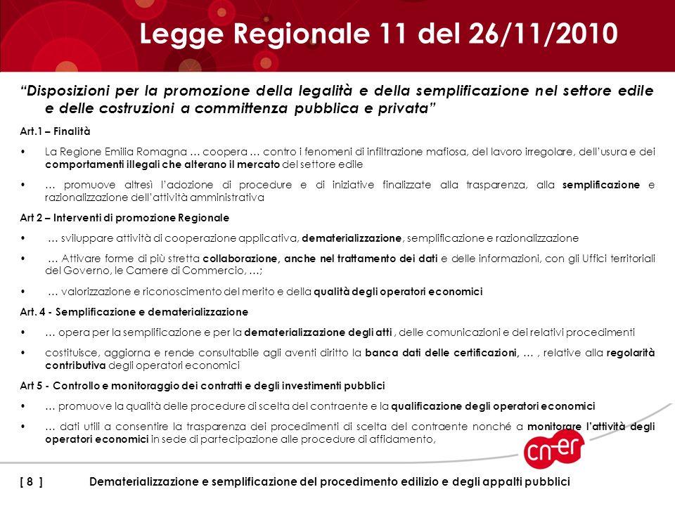 Legge Regionale 11 del 26/11/2010