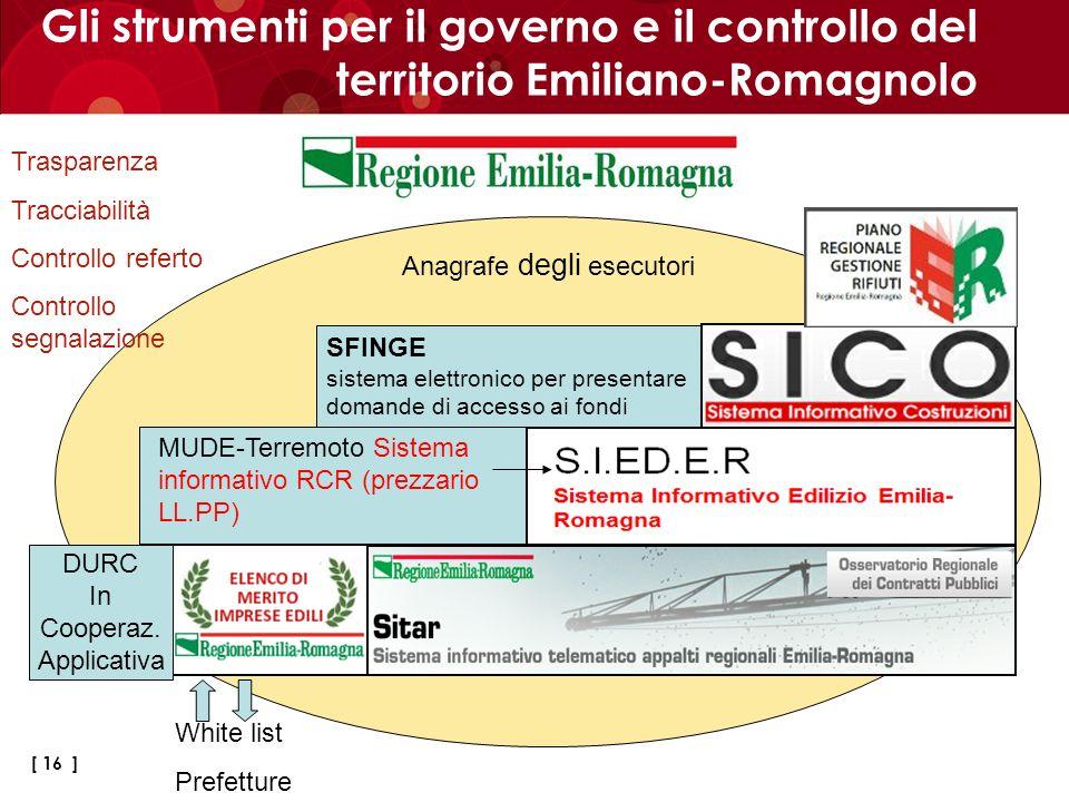 Gli strumenti per il governo e il controllo del territorio Emiliano-Romagnolo