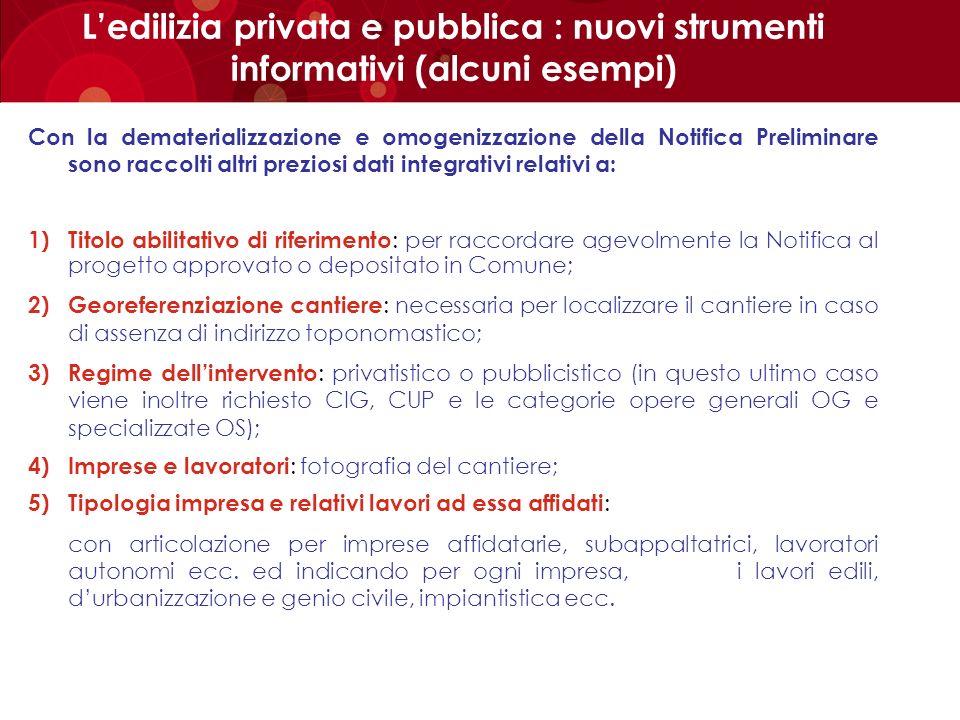 L'edilizia privata e pubblica : nuovi strumenti informativi (alcuni esempi)