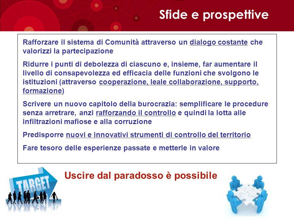 Sfide e prospettive Uscire dal paradosso è possibile
