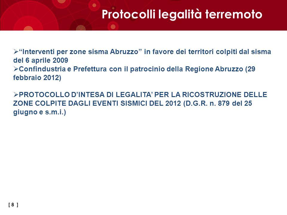 Protocolli legalità terremoto