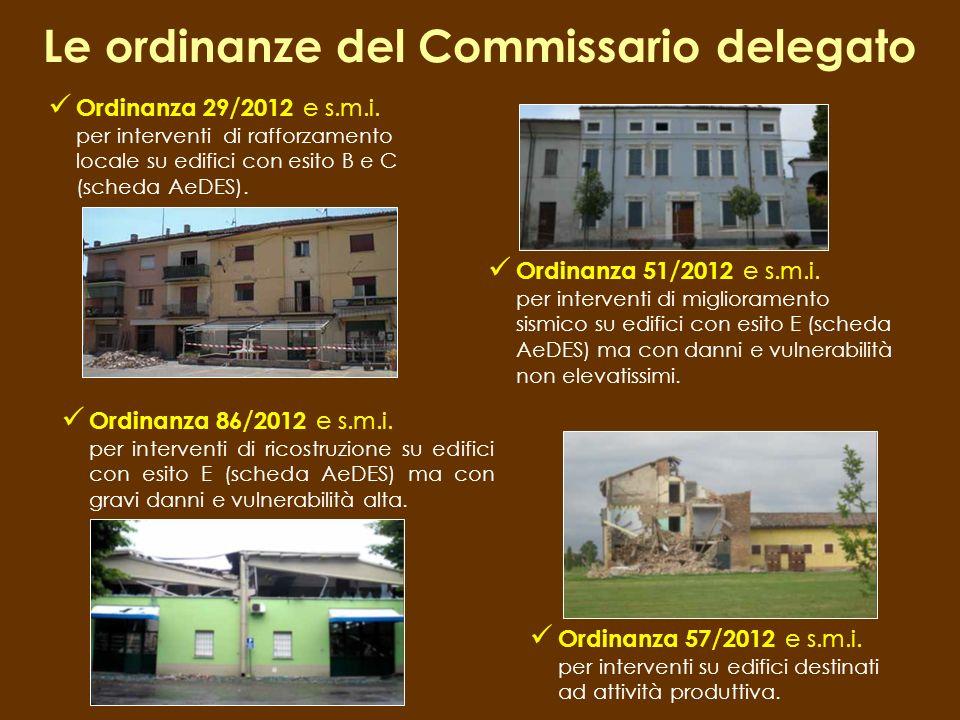 Le ordinanze del Commissario delegato