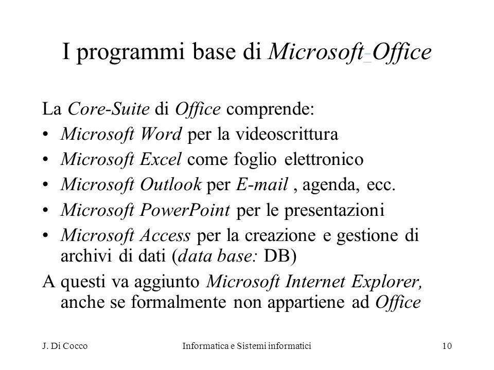 I programmi base di Microsoft-Office