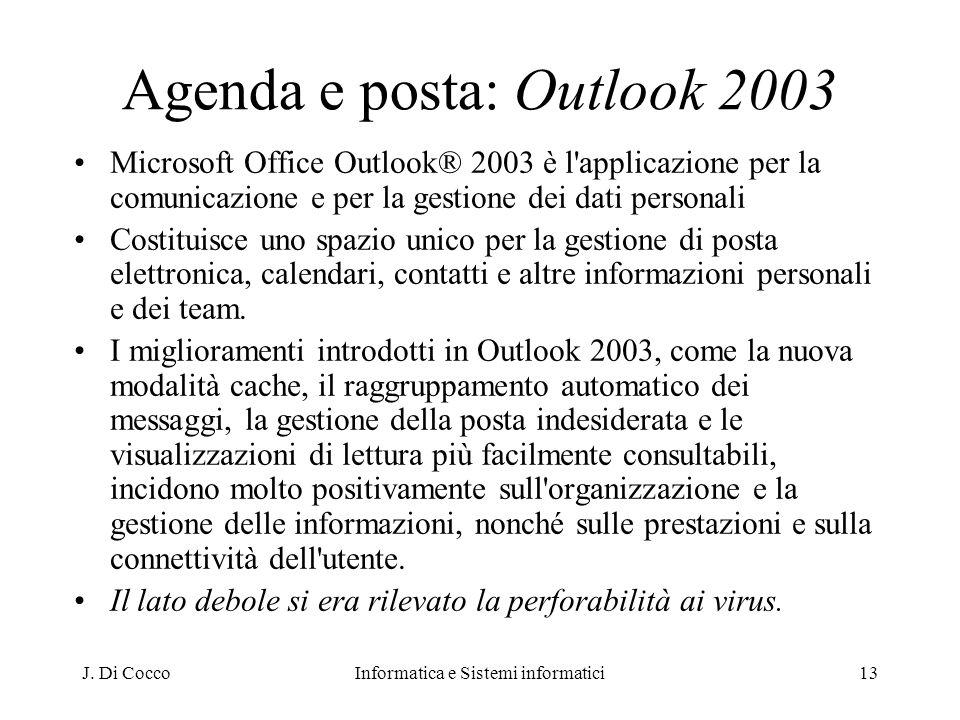 Agenda e posta: Outlook 2003