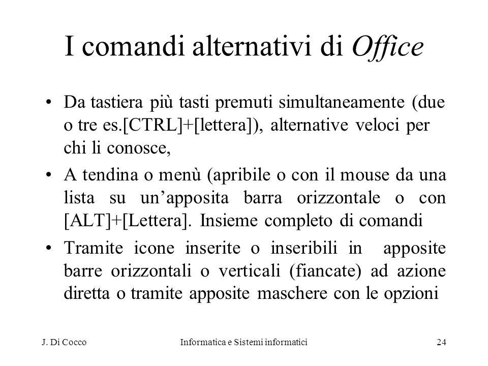 I comandi alternativi di Office