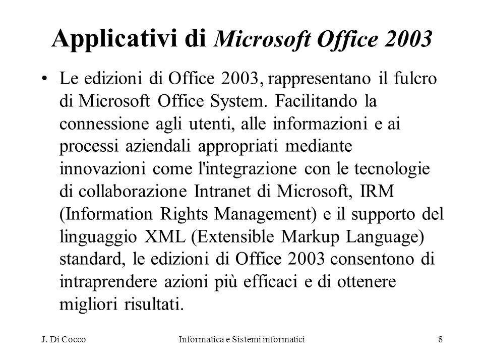 Applicativi di Microsoft Office 2003