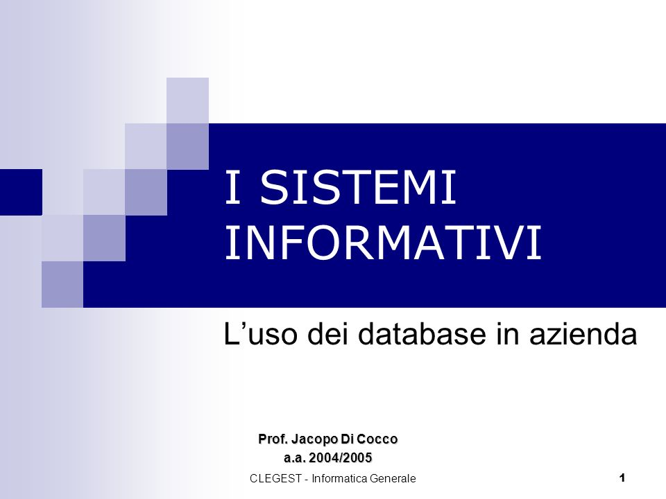 L'uso dei database in azienda