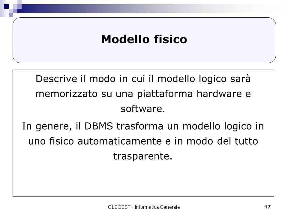 CLEGEST - Informatica Generale