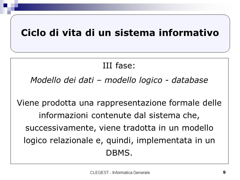 Ciclo di vita di un sistema informativo