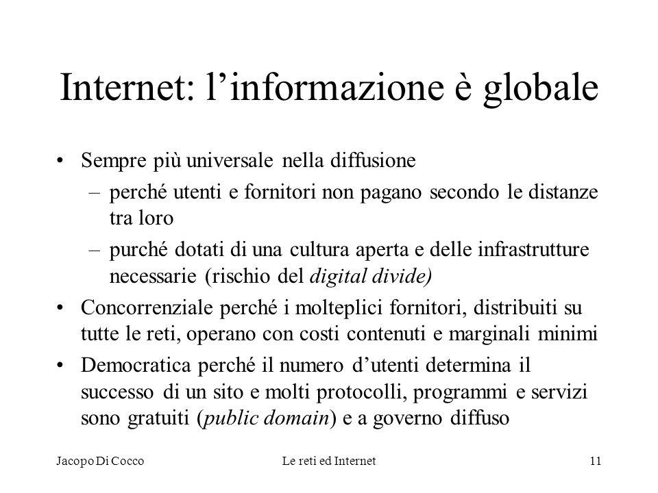 Internet: l'informazione è globale