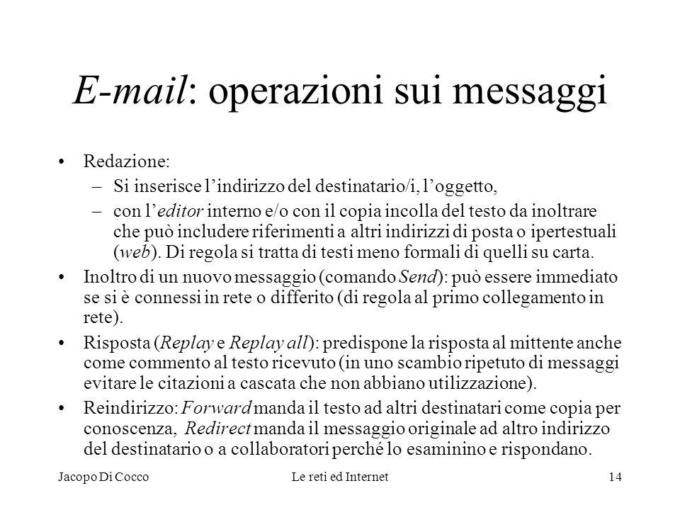 E-mail: operazioni sui messaggi