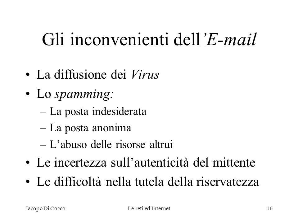 Gli inconvenienti dell'E-mail
