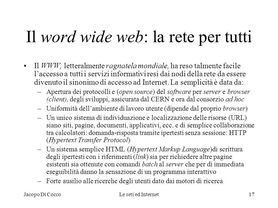 Il word wide web: la rete per tutti