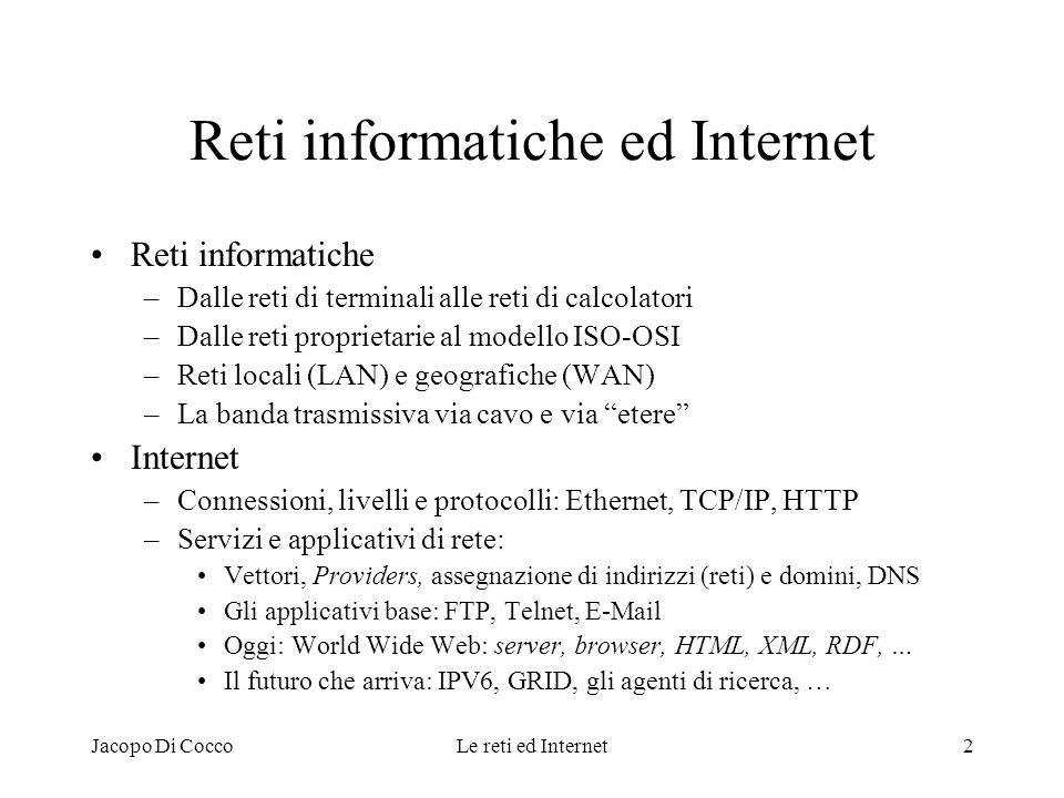 Reti informatiche ed Internet