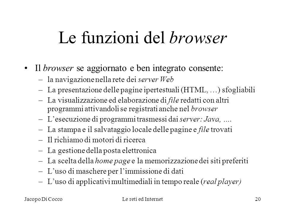Le funzioni del browser