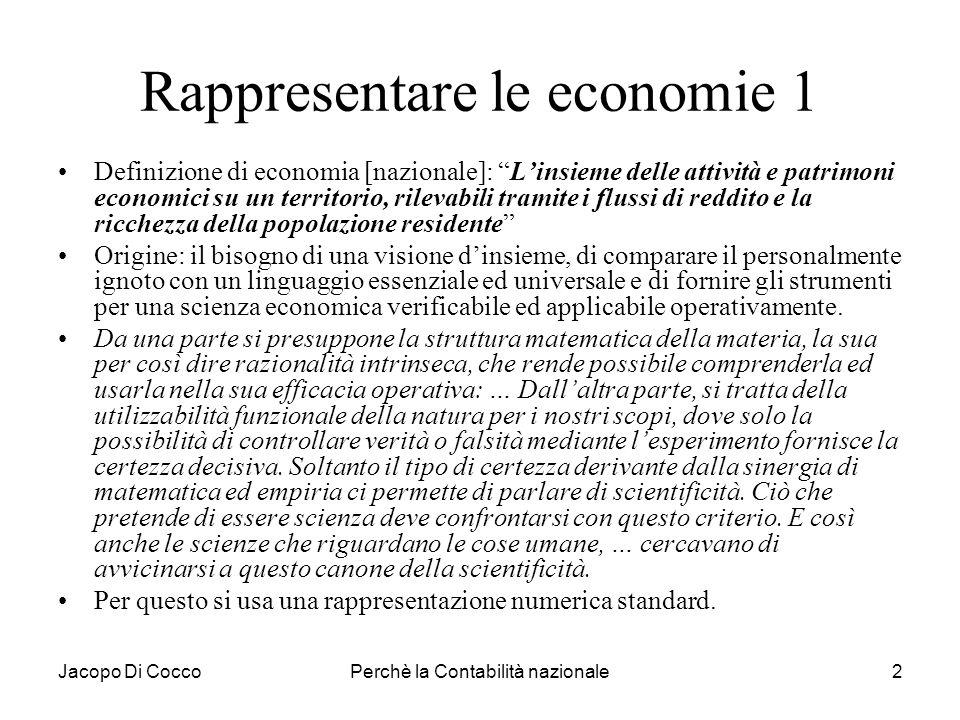 Rappresentare le economie 1