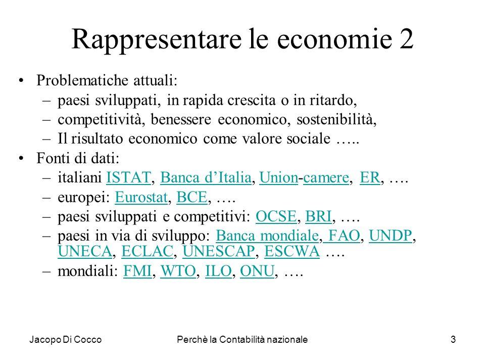 Rappresentare le economie 2