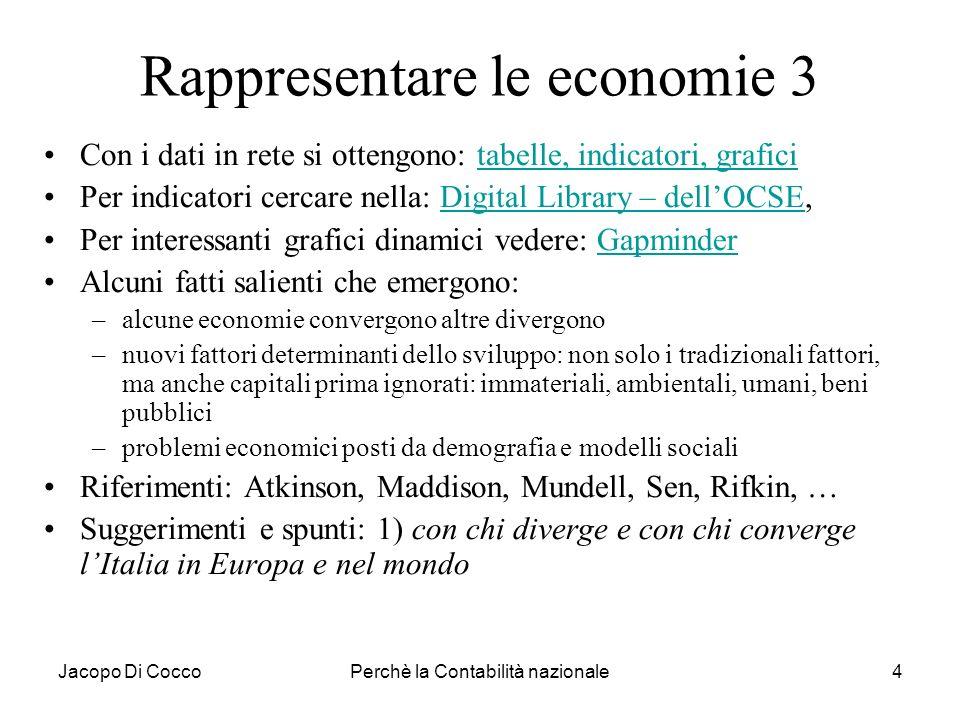 Rappresentare le economie 3